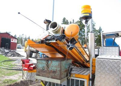 GPS och teleskop för matningscylindern, 60 cm högre matning.